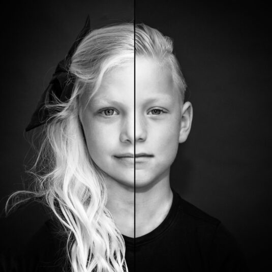 2 zielen, 1 gezicht, LevensFoto, Duo fotoshoot, 2 zielen 1 gezicht, samengevoegd portret, portret met je broer, portret met je zus