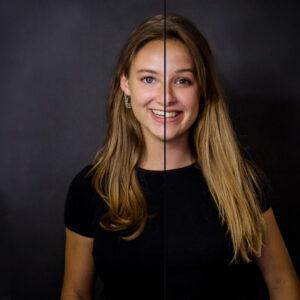 2 zielen, 1 gezicht, LevensFoto, Duo fotoshoot, 2 zielen 1 gezicht, samengevoegd portret, verbonden met je moeder, verbonden met je zus