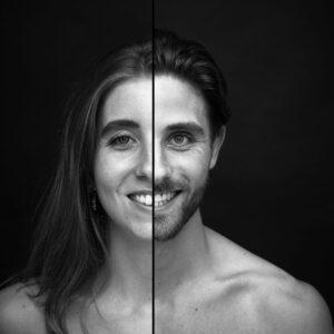 2 zielen een gezicht, duo fotoshoot, twee zielen een gezicht fotoshoot, combinatie fotoshoot